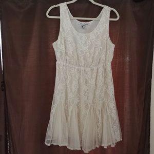 Adorable Cream Lace Dress 👗
